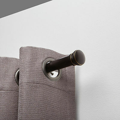 Harmony Single 1 Curtain Drapery Rod - Two Sizes - Two Colors