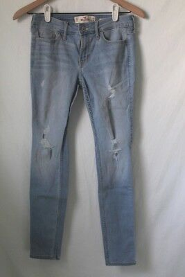 Hollister Co- Jeans Size 1S Light Wash Ripped Low Rise Super Skinny