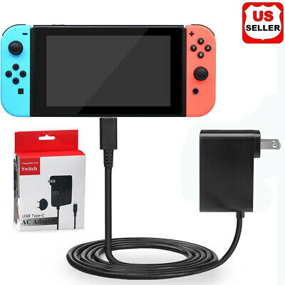AC Adapter Power Supply for Nintendo Switch Wall - Travel Charger Plug Cord US