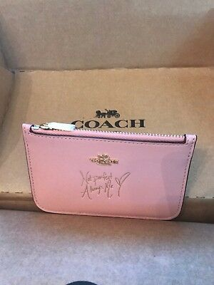 Coach X Selena Gomez Card Case With Quote