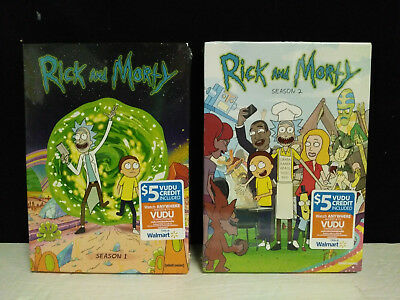 Rick and Morty The Complete Series Seasons 1-2 1 - 2  DVD SET New - Sealed