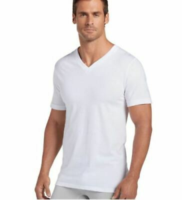 NWT Jockey 4-Pack Mens Classic Collection 100 Cotton V-Neck T-Shirt White