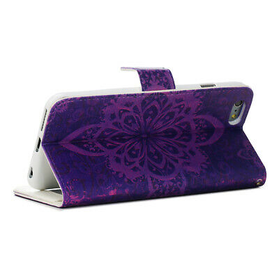 iPhone 6 6s Flip Wallet Shockproof Stand Leather Case Cover 4-7 Inches
