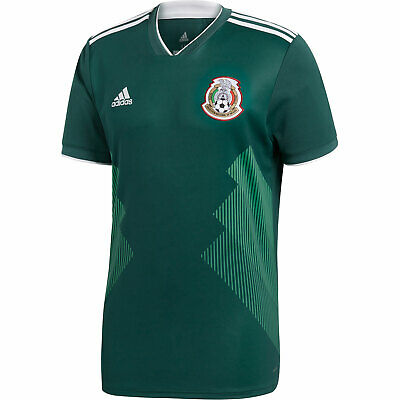 2018 World Cup Mexico National Team Adidas Mens Green Home Shirt Jersey