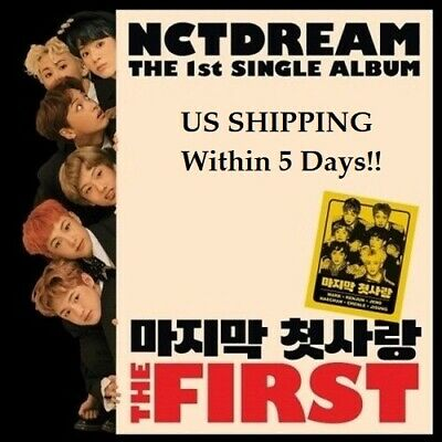 US SHIPPING NCT Dream - The First 1st Single Album CD-Booklet-PhotoCard