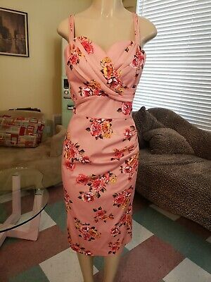 NWT Stop Staring Arana Sexy Floral Wiggle VLV Bombshell Pinup Dress Size 12