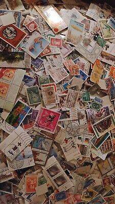 Worldwide Assortment Of 300 Cancelled Foreign Stamps Collection Foreign Lot