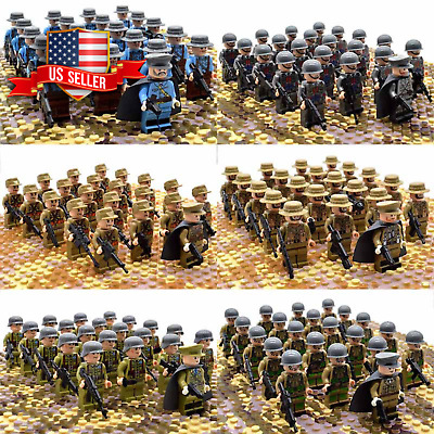 US SELLER 21pcs CUSTOM Army Soldier Minifigures and Weapons Lego