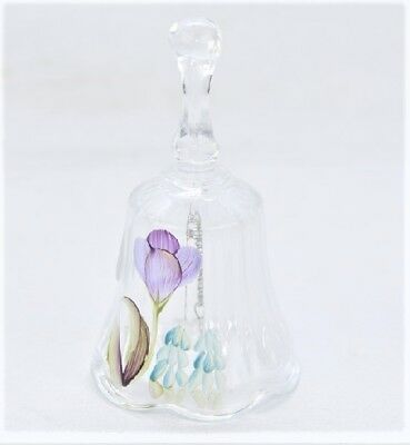 Fenton  Glass Bell Handpainted wTulips