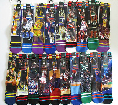 Stance NBA Legends Socks Mens LXL NWT Ewing Shaq Rodman Kemp Run TMC - More