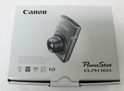 Canon PowerShot Elph 160 20-0 MP 2-7 LCD Digital Camera Red New Free Shipping