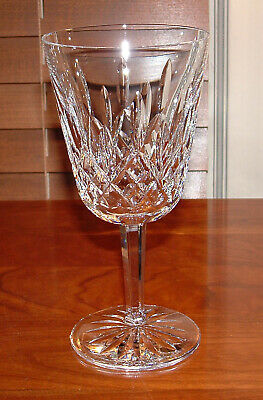 WATERFORD LISMORE WATER  WINE GLASS  6 78  MINT CONDITION