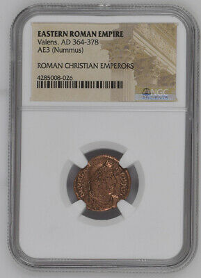2nd-4th Century Bronze Roman Coin NGC - Roman Christian Emperors Mixed Rulers