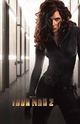 Iron Man 2 movie poster  Scarlett Johansson poster 11 x 17 inches  Black Widow