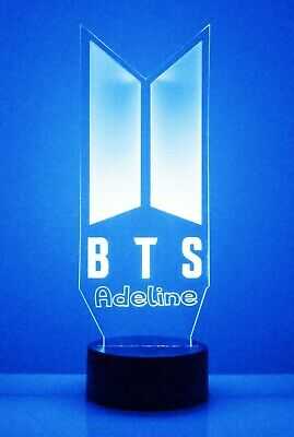 KPOP BTS Personalized Light Up Night Light Lamp With Remote Bangtan Boys V Gift