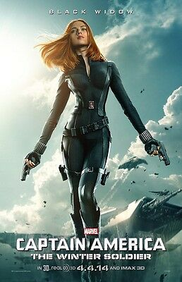 Captain America movie poster ws2 - Scarlett Johansson Black Widow poster