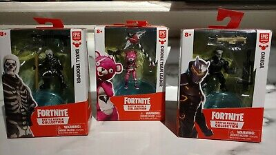 FORTNITE Battle Royale Collection LOT of 3OMEGA SKULL TROOPER CUDDLE TEAM