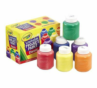 Washable Kids Paint - Crayola Classic Colors 6 Count Painting Supplies Best Gift