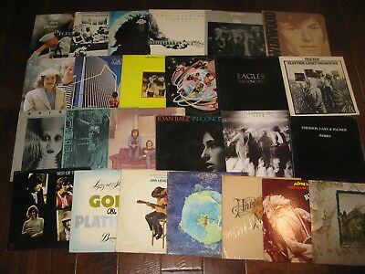 6 70s Rock Jazz Soul 80s Etc Records lp Vinyl Music Mix Original Albums VG