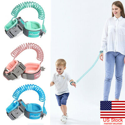 US Child Safety Harness Leash Anti Lost Wrist Link Traction Rope For Baby Kids