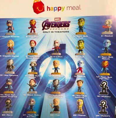 Pick Ur Favorite McDonalds 2019 Marvel Avengers Endgame Happy Meal Toys New