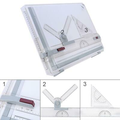 A3 Drawing Board Table With Clear Rule Parallel Motion and Adjustable Angle
