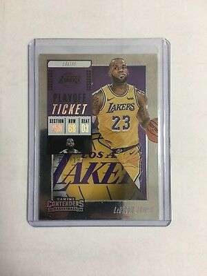 2018-19 Contenders Basketball Lebron James Playoff Ticket 199 Sp King Lakers
