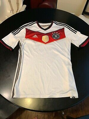 GERMANY NATIONAL TEAM WORLD CUP 2014 HOME FOOTBALL SHIRT JERSEY TRIKOT ADIDAS M