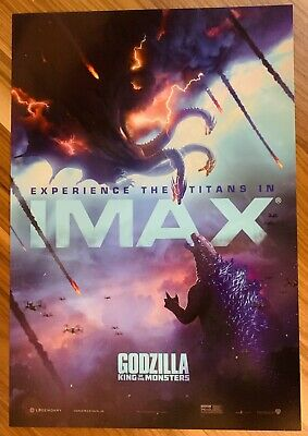 GODZILLA KING OF THE MONSTERS Movie poster 13 x 19 PREMIERE IMAX