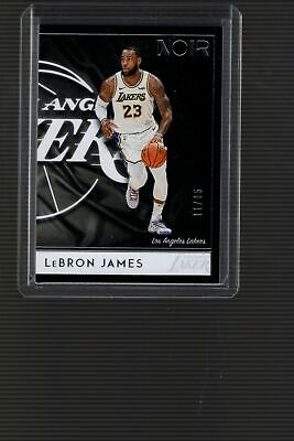 2018-19 Panini Noir LEBRON JAMES Association Edition Base 18 1185 LAKERS