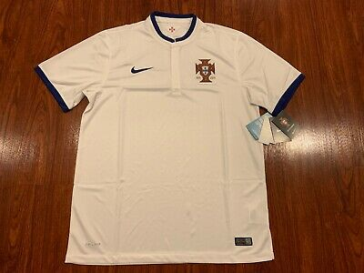 2014 World Cup Nike Men's Portugal Home Soccer Jersey Large L White