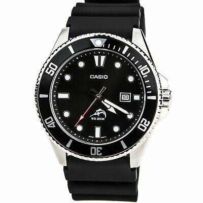 Casio Mens Watch Sports Black Dial Black Resin Strap Dive MDV106-1A