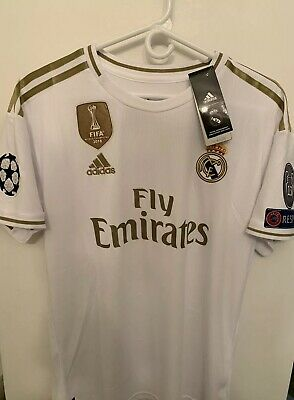REAL Madrid 1920 soccer Jersey Size M HAZARD Champions League Patch