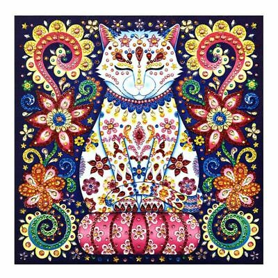 Cat 5D Special Shaped Diamond Painting Embroidery Needlework Cross Craft Kit DIY