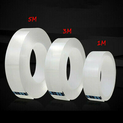 Multifunction Nano Tape Clear Stickiness Gel Grip Removable Free Cut Washable
