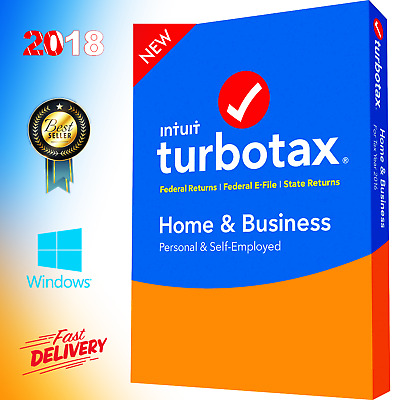 TurboTax Home and business 2018 Windows Full 5 Users  Federal State Return Tax