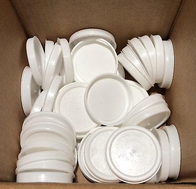 3 Round End Caps  Plastic  For 3 Inch ID Mailing Tubes  10 pairs-