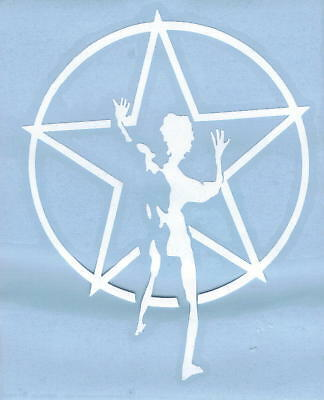 RUSH STARMAN PEEL AND RUB ON WHITE VINYL DECAL