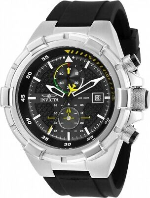 Invicta 28102 Aviator Mens Chronograph 50-5mm Stainless Steel Black Dial Watch