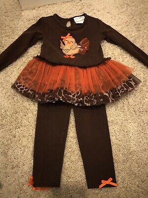 EMILY ROSE Thanksgiving Pant and Shirt Girls Outfit 2T