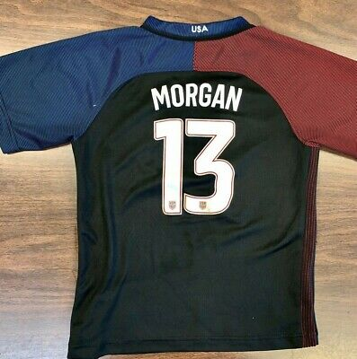 NIKE Authentic USA Soccer Women's 24 Jersey ALEX MORGAN 2016 Dri Fit World Cup