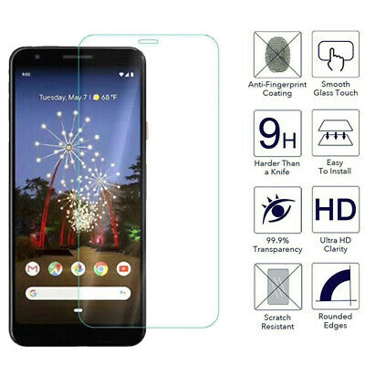 For Google Pixel 4 4a 5 Clear 9H Tempered Screen Glass Protector
