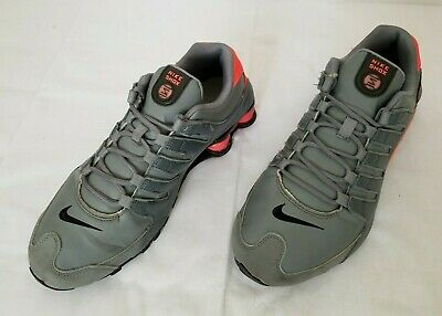 Mens Size 10-5 Grey Pink Black Nike Shox Running Shoes 378341-116 preowned