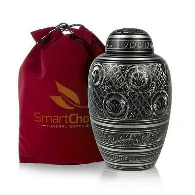 Cremation Urn for Human Ashes Elegant Black and White Adult