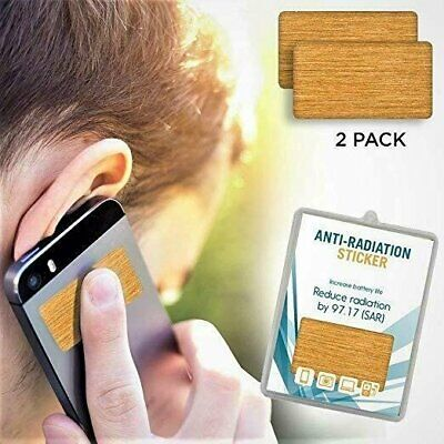 2 Pack Anti EMF Radiation Protection Shield Stickers for Cell Phone Laptop