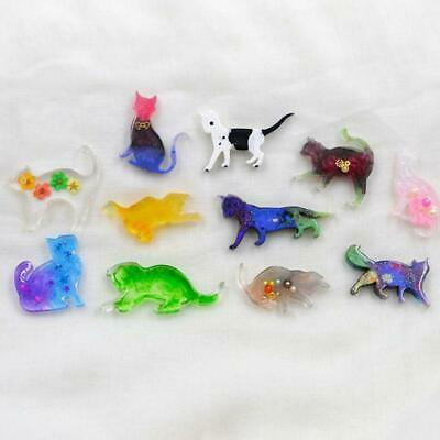 7 Pcs Small Animal Cat Modeling Epoxy Mold UV Crystal Clay AB Silicone Mould DIY