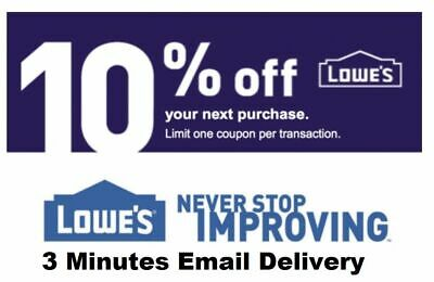 Lowes 10 OFF 1Coupon-InStore and Online-Fastest Delivery-