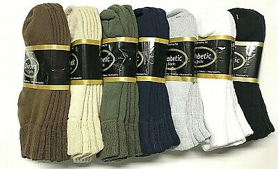 3 6 12  Pair Non-Binding Top DIABETIC Colors Ankle Sock Size10-13 - 9-11 USA