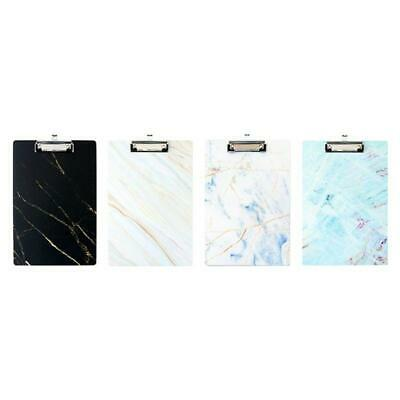 A4 Marble Clipboard Writing Pad File Folders Board Clip Document Holder Supplies