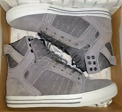 New Supra Skytop Shoes Mens Size 8-5 Eiffel Tower Warm Gray Suede